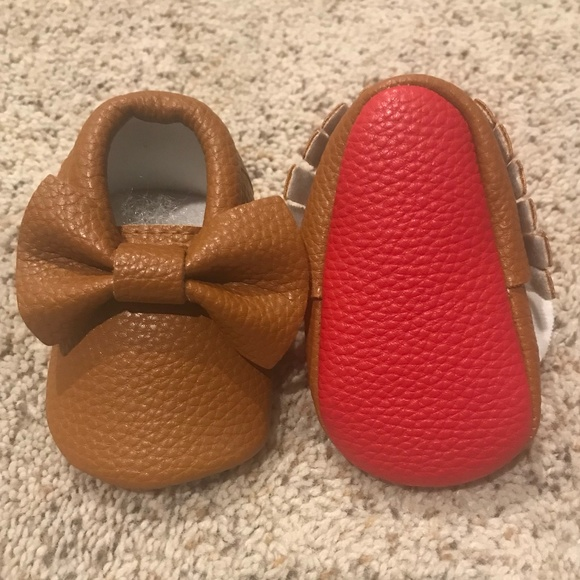 60a5edc24bb Brand New Brown Red Bottom Baby Moccasin Louboutin Boutique
